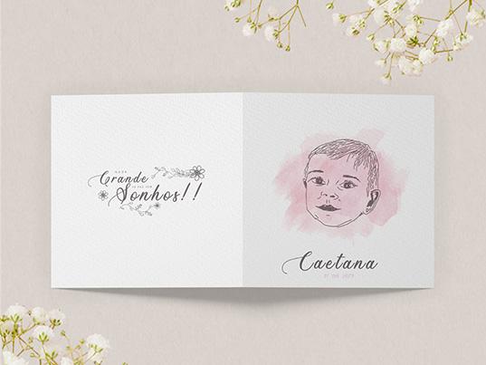 convite baptizado caetana portfolio design graficoeditorial Tomar Next Solution Agencia Comunicacao empresa
